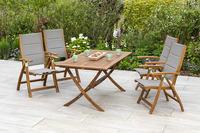 MX Gartenmöbel Acapulco Set 5tlg. Tisch 160 x 90cm