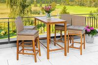 MX Gartenmöbel 9tlg. Barset 4 Barstühle