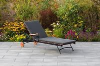 MX Gartenliege Schlossgarten mit Auflage grau
