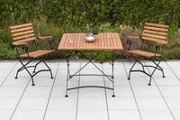 MX Gartenmöbel Schlossgarten Set 3tlg. Tisch 90x90cm