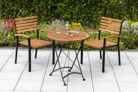 MX Gartenmöbel Schlossgarten Set 3tlg. Stapelsessel Tisch 70cm