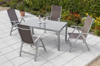MX Gartenmöbel Carrara Set 4tlg. taupe Tisch 150x90cm