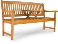 IN Gartenbank 3-Sitzer Sun Flair Eukalyptus Klapptisch 150x61cm