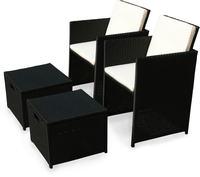 IN Gartenmöbel Set Faro 4-teilig Polyrattan schwarz