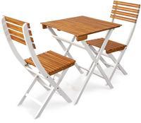 IN Gartenmöbel Set 3-teilig Nizza Akazie Tisch 60cm